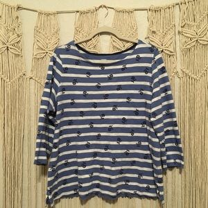 OLD NAVY Blue/Floral Shirt